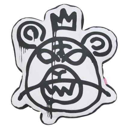 Bear Mop Cushion Black