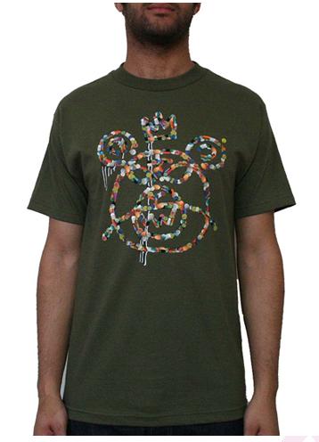 Pill Mop T-Shirt Military
