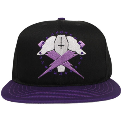 bolts snapback purple