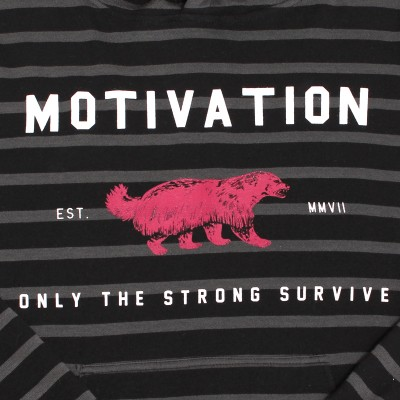 motivation hoodie detail