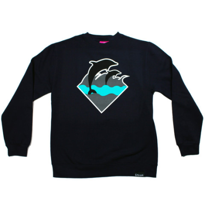 waves crewneck mint