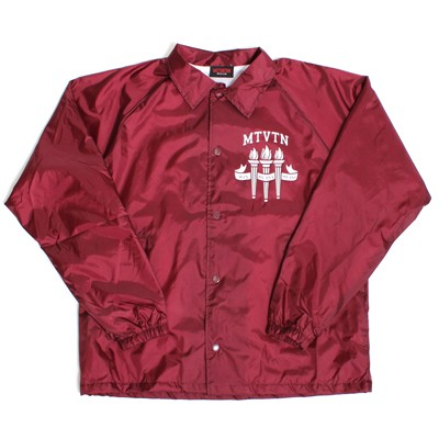 coach jacket burgandy