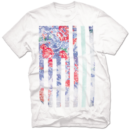floral flag tee