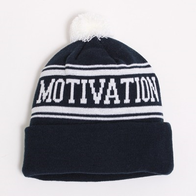 motivation beanie blue