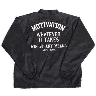 motivation coach jacket back