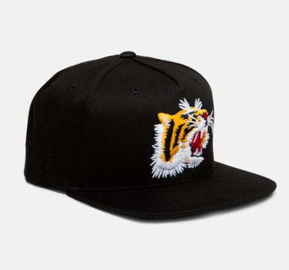 tiger snapback black