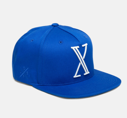 x blue snapback