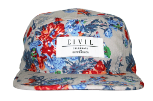 5 panel floral