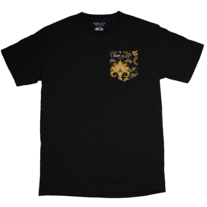 Black Paisley Pocket Tee Full