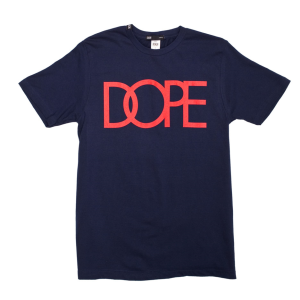 dope navy tee w red