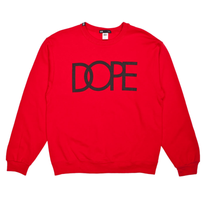 dope red crewneck