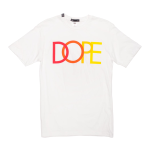 yellow and black dope tee white