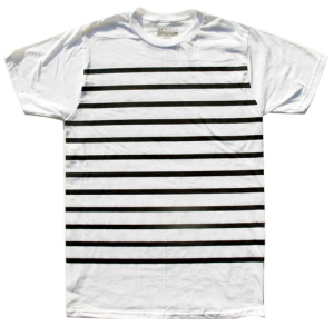 nautical stripe tee white
