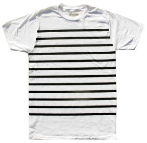 nautical stripe tee white