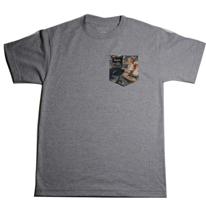 Gray Digifloral Pocket Tee
