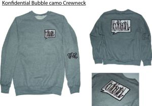 ghost bubble crewneck sweatshirt