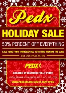 PEDX 50% SALE FLYER