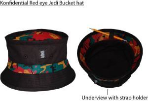 Red eye jedi bucket hat